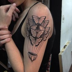 Creative Butterfly Tattoo Design by Aske