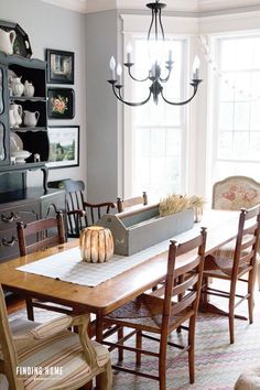 Fall Dining Room Decorating Ideas from Finding Home Farms