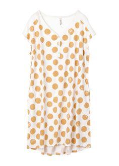 Organic cotton dot dress