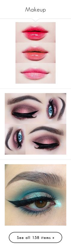 """""""Makeup"""" by beeby-doll ❤ liked on Polyvore featuring beauty products, makeup, eye makeup, eyes, gel eye liner, eye brow makeup, brow makeup, illamasqua, illamasqua cosmetics and eyeshadow"""