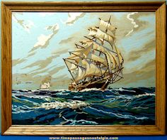 paint by number sailing ships - Google Search