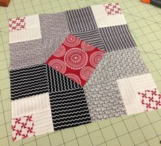 by QuiltJane in Australia:  Aurifil Designer Block 2014 - June