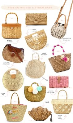 The Best Straw Bags | The Blondielocks | Life + Style