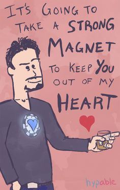 Sorry guys, just one more...ahahaha...Valentine's Day Card, Iron Man style :)