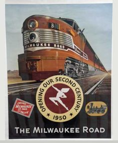 Milwaukee Road Ad - railroad that no longer exists. Train Posters, Railway Posters, Vintage Travel Posters, Poster Vintage, Railroad Pictures, Milwaukee Road, Travel Ads, Train Art, Old Trains