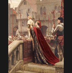 Edmund Blair Leighton Paintings | Edmund Blair Leighton Paintings - Edmund Blair Leighton A Little ...