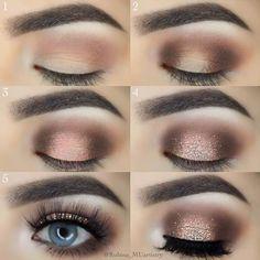 DIY Glitter Smokey Eye Makeup picture2