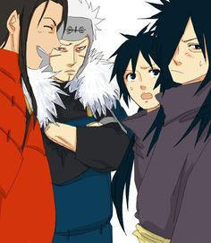 Hashirama and tobimara senju and madara and izuna uchiha