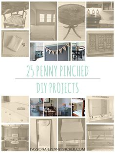 25 days of penny pinched DIY projects - you won't believe the after pictures!