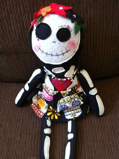 Hey, I found this really awesome Etsy listing at http://www.etsy.com/listing/85662831/handmade-skeleton-day-of-the-dead-plush