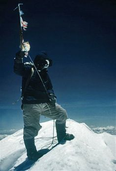 On May 29, 1953, Edmund Hillary and Sherpa Tenzing Norgay become the first people to reach the summit of Mount Everest, on Tenzing Norgay's (adopted) 39th birthday.