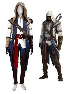 Rivers Halloween Costume Amazon.com: Assassin's Creed III 3 Connor Kenway Cosplay Costume, Male-Large: Clothing