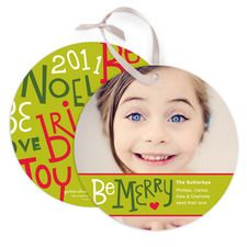 Christmas cards into ornaments?  what a clever idea!