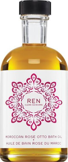 REN Moroccan Rose Otto Bath Oil Colorless.   A bath oil formulated with Moroccan Rose Otto Oil to nourish, moisturise and condition the skin, leaving skin soft and supple. The bath rose oil's exquisite, sensual scent is also known for its stress relieving and soothing properties.
