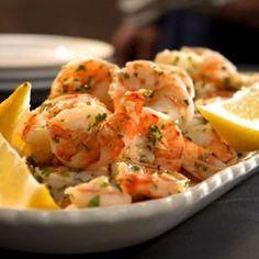Lemon-Garlic Marinated Shrimp Recipe - also good sautéed (read comment) over pasta