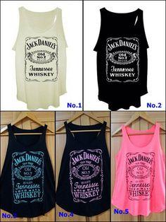 Jack Daniels Men Womens Tank Top Old No. 7 Classic Logo Schwarz Dress T shirt Country Girls Outfits, Girl Outfits, Summer Outfits, Fashion Outfits, Pretty Outfits, Cute Outfits, Jack Daniels, Look At You, Ootd