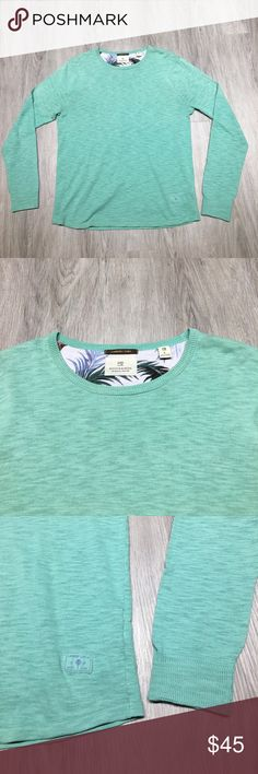 Scotch & Soda men's long sleeve T-shirt. Size L Scotch & Soda sea-foam green long sleeve T-shirt. Size Large. Vintage cotton. Slim fit. Brand new! Scotch & Soda Shirts Tees - Long Sleeve