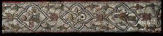 Late byzantine belt belonged to Branko Mladenovic, silk embroidered by gold and silver thread, half of 14th century, The British Museum.