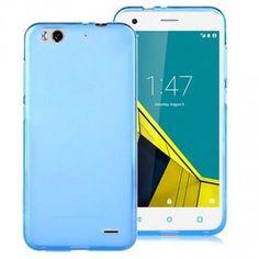 Cep Telefonu Kılıfları - Vodafone Smart 6 Kılıf İnce Silikon Kılıf Şeffaf Mavi