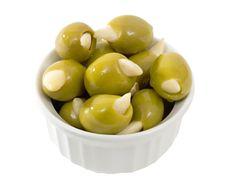 Garlic stuffed olives plus reciepes