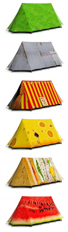 Field Candy Tents. Fun and clever designs