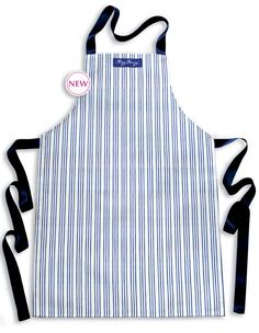 New-Blue & White Striped Childrens'Apron, Ages7-11 £13 This delightful apron will keep your childs clothes clean and protected while they create delicious treats for you in the kitchen!The fabric design is beautifully hand painted and digitally printed using environmentally friendly water based inks. ChezBeccy.folksy.com