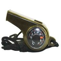 Have it all right around your neck with this 3 in 1 Camping / Hiking Emergency Survival Gear; Whistle, Compass, Thermometer