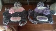 Girl sock monkey hats... Mike's nieces