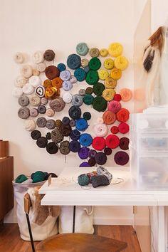 wall of yarn!