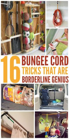16 Bungee Cord Tricks That Are Borderline Genius - One Crazy House                                                                                                                                                                                 More