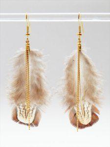 Boucles d'oreilles plumes – encore et toujours !