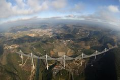 Millau Viaduct - France is a cable-stayed road-bridge that spans the valley of the river Tarn near Millau in southern France.