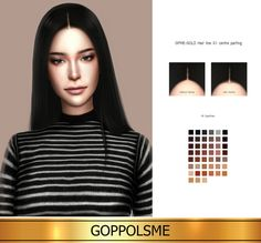 GPME GOLD Hair line G1 centre parting at GOPPOLS Me • Sims 4 Updates