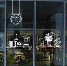 Xin Home Textile Tea Coffee Window Glass Tea Cup Restaurant Dessert Shop Coffee Hall Korean . - Xin home decoration tea coffee window glass teacup restaurant dessert shop coffee hall Korean, - Kitchen Wall Stickers, Wall Decor Stickers, Window Stickers, Window Decals, Wall Decals, Wall Art, Diy Wall, Window Art, Vinyl Decor