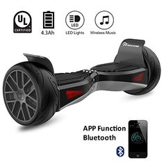 EVERCROSS ELES04 Electric Self Balancing Scooter  AllTerrain 85 Alloy Wheel 400W DualMotor UL2272 Certified OffRoad Hoverboard Black -- Want additional info? Click on the image. (This is an affiliate link) #Scooters