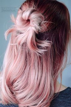 Rose Quartz hair inspiration - half up hairstyle