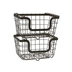 Found it at Wayfair - Stacking/Nesting Metal Basket