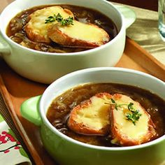 A little twist on my favorite soup, French Onion.  This is Dutch Onion soup.  Yum!