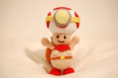 Captain Toad (Captain Toad / Super Mario) pattern by Sabrina Somers Crochet Patterns Amigurumi, Crochet Dolls, Knitting Patterns, Knitting Ideas, Crochet Stitches, Knit Crochet, Crochet Crafts, Crochet Projects, Crochet Ideas