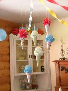Ice cream cone hanging decor