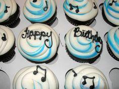 Close up of the cupcakes. Colin MacDonald of the Trews' birthday celebrations, May 31/13, Lewiston, NY.
