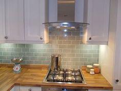 New kitchen tiles duck egg bathroom Ideas Duck Egg Blue Kitchen Tiles, Metro Tiles Kitchen, Kitchen Wall Tiles, Kitchen Flooring, Painting Kitchen Tiles, Paint Tiles, Brick Bathroom, Cement Tiles, Kitchen Paint