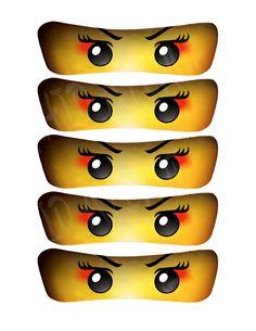 Mädchen Ninja/Samurai Augen: 5 Größen-INSTANT-DOWNLOAD hohen