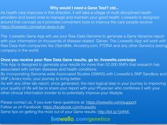 Why would someone need to run a Gene Test ? Part 2