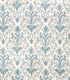 Faded Damask Print in Lagoon Blue Drapery Panels-Unlined, Lined, or Blackout lined, Sold in Pairs