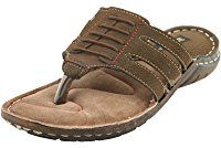 BACCA BUCCI MEN OLIVE LEATHER SLIPPERS