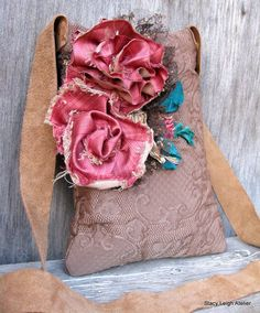 Deconstructed Silk Rose Bag in Vintage Fabric by stacyleighatelier, $85.00