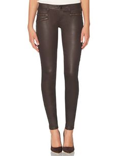 678 Coated Zip Pocket Skinny Jeans from THELIMITED.com