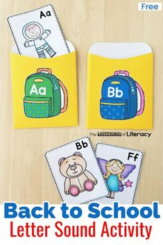 FREE Back to School Beginning Sound Sort Activity Printables Back to School Beginning Sound Sort Activity, for Kindergarten. Perfect for ABC centers, small groups and partner work. Abc Centers, Preschool Centers, Preschool Literacy, Preschool Printables, Kindergarten Activities, Classroom Activities, Literacy Centers, Autism Activities, Classroom Setup