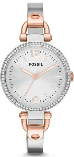 #Fossil Georgia Three-Hand Bangle #Watch Es3447